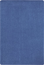Just Kidding™ Cobalt Blue Classroom Rug, 4' x 6' Rectangle