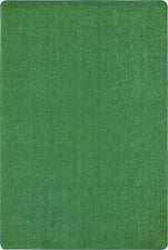 Just Kidding™ Grass Green Classroom Rug, 6' x 9' Rectangle