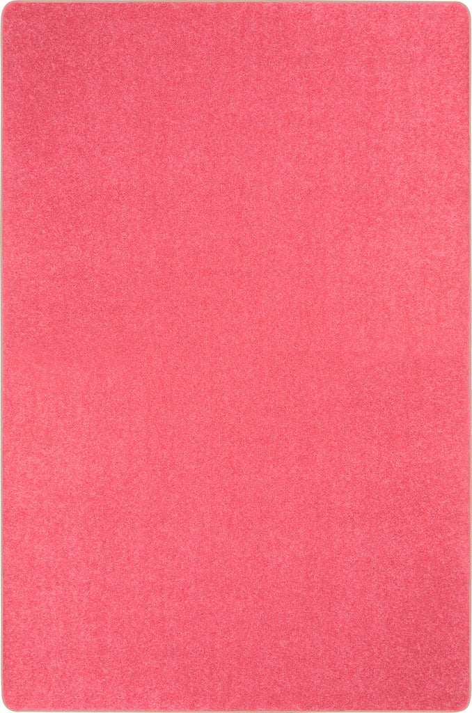 Just Kidding™ Hot Pink Classroom Rug, 4' x 6' Rectangle