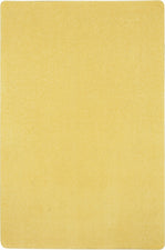 Just Kidding™ Lemon Yellow Classroom Rug, 4' x 6' Rectangle