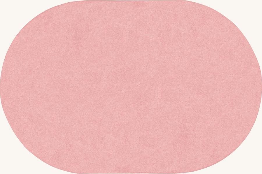 Just Kidding™ Pale Pink Classroom Rug, 6' x 9' Oval