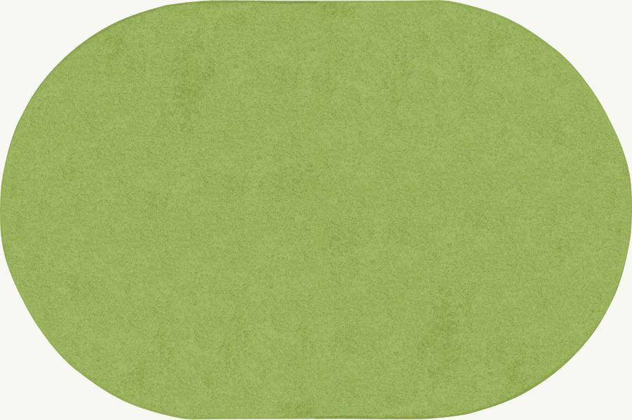 Just Kidding™ Lime Green Classroom Rug, 12' x 8' Oval