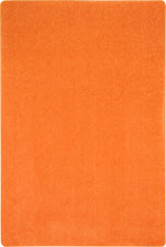Just Kidding™ Tangerine Orange Classroom Rug, 6' x 9' Rectangle