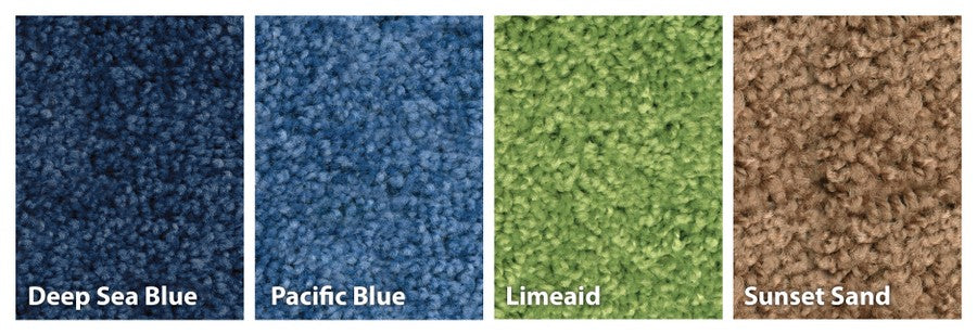 KIDplush™ Solid Pacific Blue Classroom Rug, 4' x 6' Rectangle