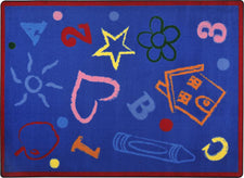 "Kid's Art© Classroom Rug, 7'8"" x 10'9"" Rectangle Rainbow"