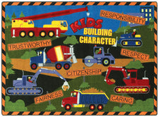 "Kid's Building Character© Classroom Rug, 5'4"" x 7'8"" Rectangle"