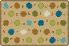 KIDSoft™ Alphabet Dots Classroom Rug, 4' x 6' Rectangle