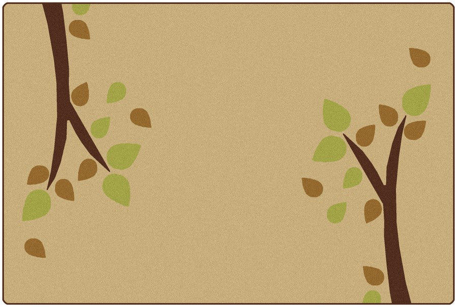 KIDSoft™ Branching Out Classroom Carpet, 6' x 9' Rectangle – Tan