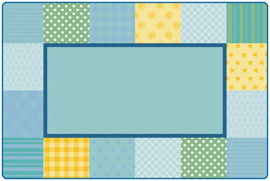 KIDSoft™ Pattern Blocks Classroom Rug, 4' x 6' Rectanlge – Soft