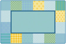 KIDSoft™ Pattern Blocks Classroom Rug, 8' x 12' Rectanlge – Soft
