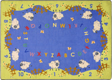 "Lamby Pie© Alphabet Classroom Rug, 5'4"" x 7'8"" Rectangle"