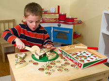 Pizza Party, Wooden Play Food
