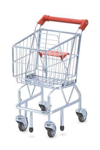 Shopping Cart Toy, Metal Grocery Wagon