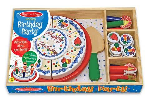 Birthday Party, Wooden Play Food