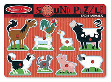 Farm Animals Sound Puzzle, 8 Pieces
