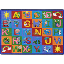 "Learning Letter Sounds™ Classroom Circle Time & Seating Rug, 5'4"" x 7'8"" Rectangle"