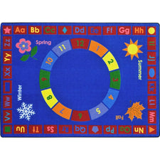 "Learning Time™ Classroom Rug, 5'4"" x 7'8"" Rectangle"