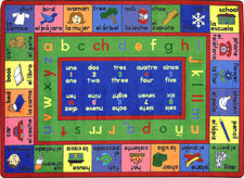 "LenguaLink© (Spanish) Classroom Circle Time Rug, 7'8"" x 10'9"" Rectangle"