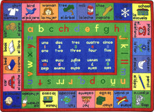 "LenguaLink© (Spanish) Alphabet Classroom Rug, 5'4"" x 7'8"" Rectangle"