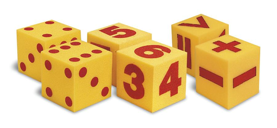 Giant Soft Numeral Cubes