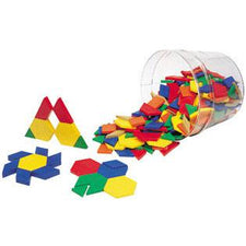 Pattern Blocks Sets: Plastic (0.5 cm), Set of 100