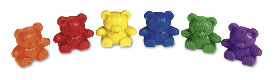 Baby Bear™ Counters, 6 Colors, Set of 102