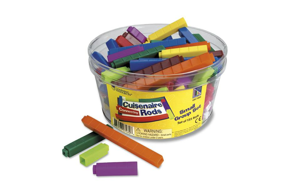 Cuisenaire® Rods Small Group Set: Connecting, Set of 155