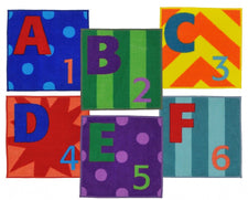 Letters & Numbers™ Classroom Carpet Squares, Set of 26