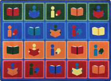"Library Blocks© Classroom Rug, 7'8"" x 10'9"" Rectangle"