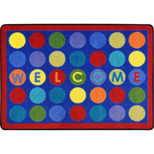 "Library Dots™ Classroom Mat, 2'8"" x 3'10"" Rectangle"