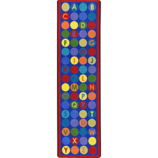 "Library Dots™ Classroom Runner, 2'1"" x 7'8"" Rectangle"