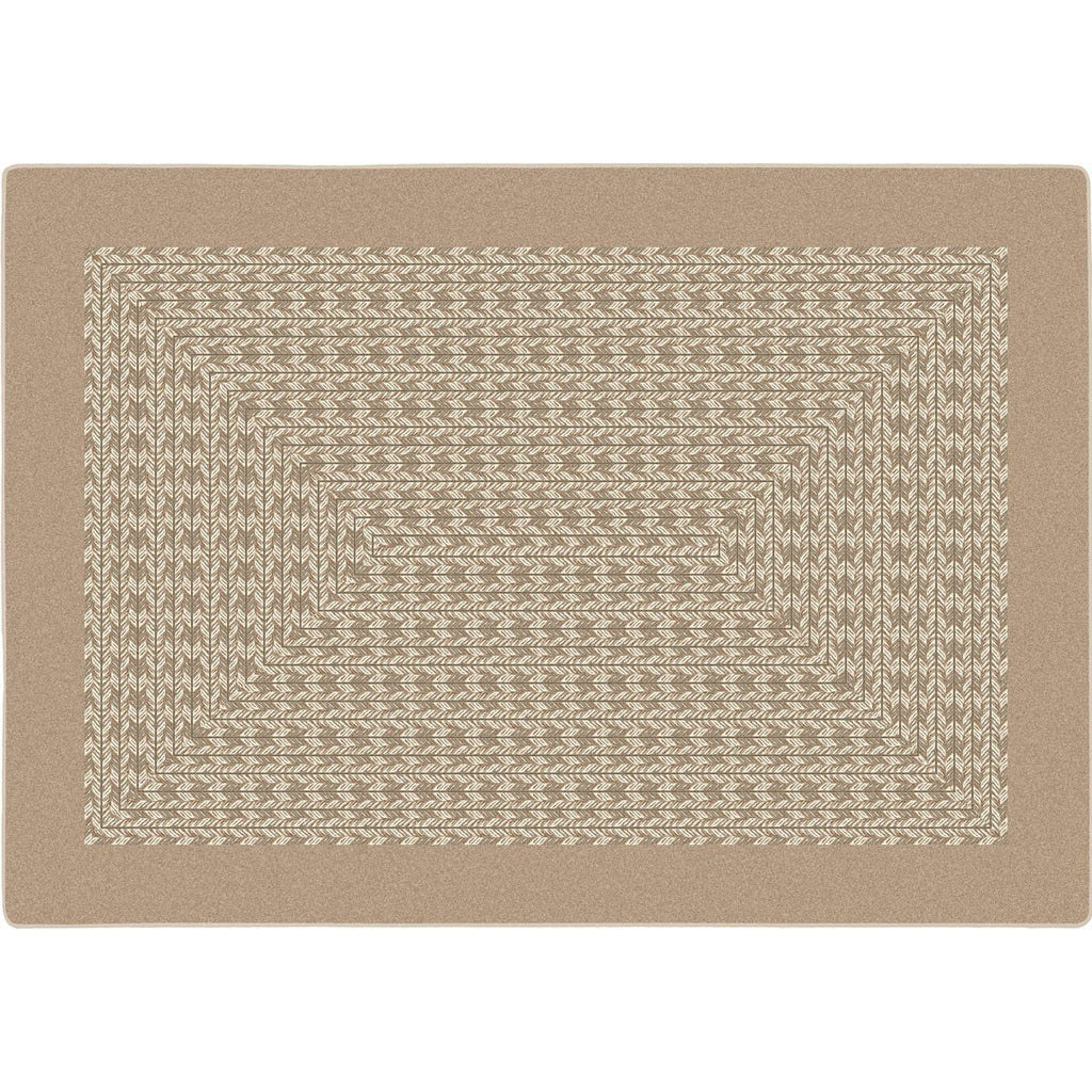 "Like Home™ Beige Classroom Carpet, 5'4"" Round"