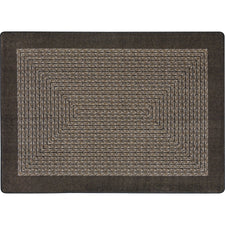 "Like Home™ Chocolate Classroom Carpet, 7'8"" x 10'9"" Oval"