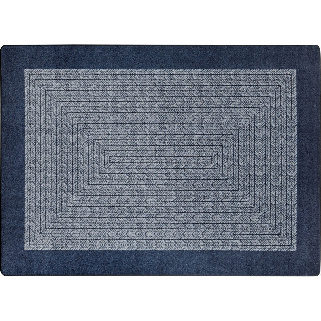"Like Home™ Navy Classroom Carpet, 7'7"" Round"