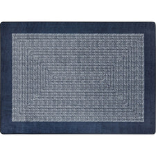 "Like Home™ Navy Classroom Carpet, 7'8"" x 10'9"" Oval"