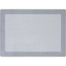 "Like Home™ Silver Classroom Carpet, 3'10"" x 5'4"" Rectangle"