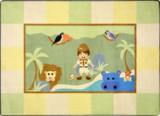 "Lil' Explorer© Kid's Play Room Rug, 5'4""  Round"