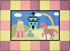 "Lil' Princess© Kid's Play Room Rug, 5'4""  Round"