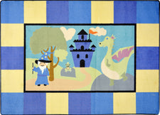 "Lil' Wizard© Kid's Play Room Rug, 3'10"" x 5'4"" Rectangle"