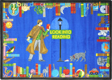 "Look Into Reading© Classroom Rug, 7'8"" x 10'9"" Rectangle"