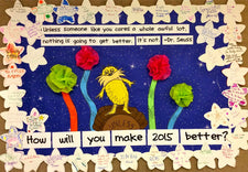 """Unless..."" New Years Resolution Bulletin Board Idea"