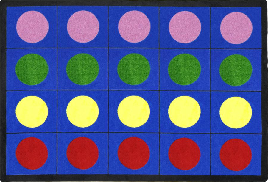 "Lots of Dots© Primary Classroom Rug, 5'4"" x 7'8"" Rectangle"