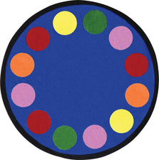 "Lots of Dots© Primary Classroom Rug, 7'7"" Round"