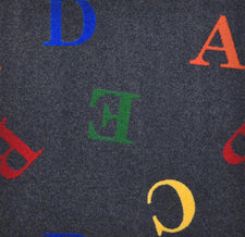 "Love Letters© Alphabet Classroom Rug, 3'10"" x 5'4"" Rectangle Licorice"