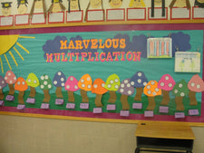 Marvelous Multiplication Spring Bulletin Board Idea