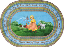 "Mary's Lamb© Kid's Play Room Rug, 3'10"" x 5'4""  Oval"