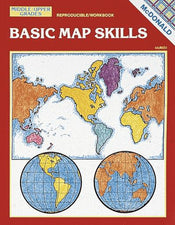 Basic Map Skills Reproducible Book, Grades 6-9