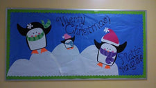 """Merry Christmas!"" Holiday Penguin Bulletin Board"