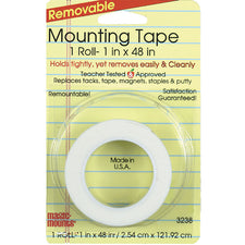 "Miller Studio Remarkably Removable Magic Mounting Tape Tabs And Chart Mounts 1"" x 48"""
