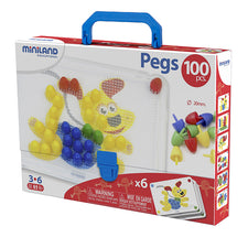 "3/4"" Pegs with Pegboard, 100 Pieces"